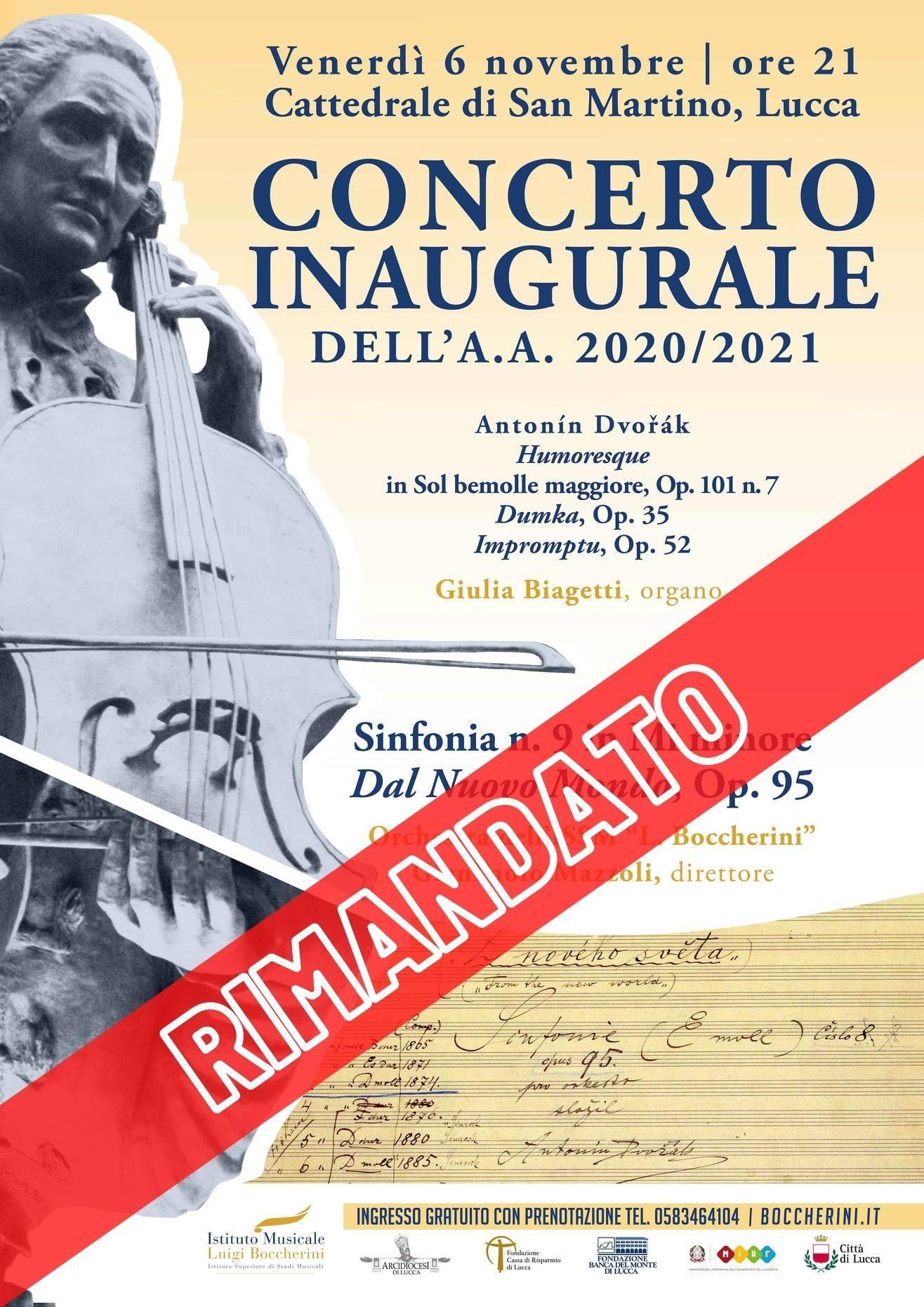 Concerto inaugurale dell'A.A. 2020/2021 RIMANDATO